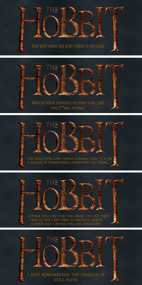 Ready for the last Hobbit film?-----NO! THEN IT WILL BE OVER AND EVERYONE WILL DIE! WAHAHAHAHAAHAHAHAHAAA!!!! * INTENSE SOBS*