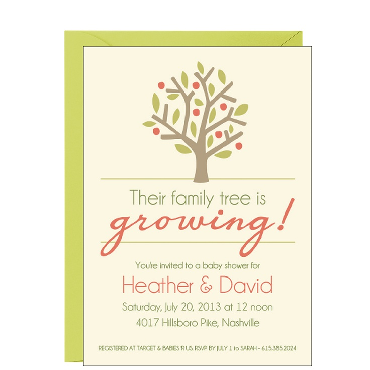 Family Baby Shower Invitations: Family Tree Baby Shower Invitation