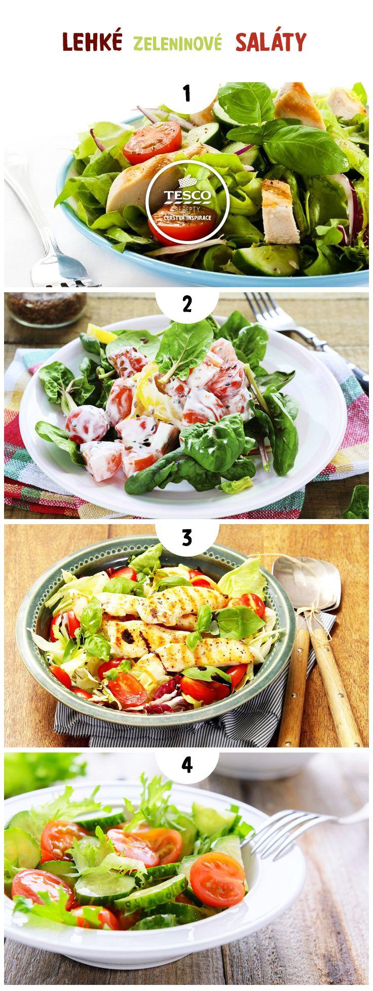 Lehké zeleninové saláty pro horké letní dny!