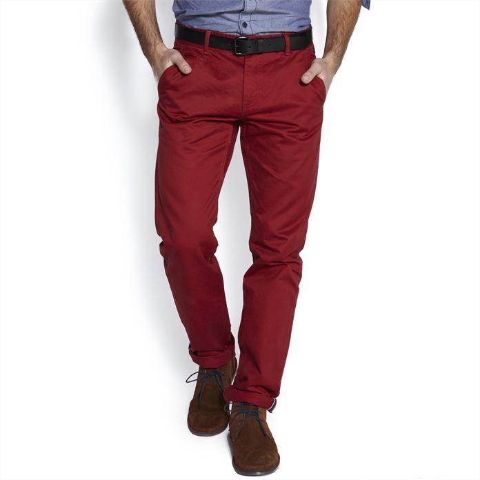 Chino straight Rouge homme – la mode homme sur Jules.com