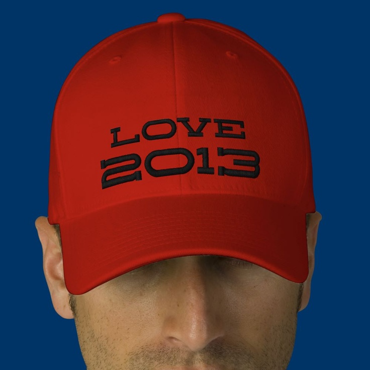 Love 2013 Embroidered Hat from Zazzle.com