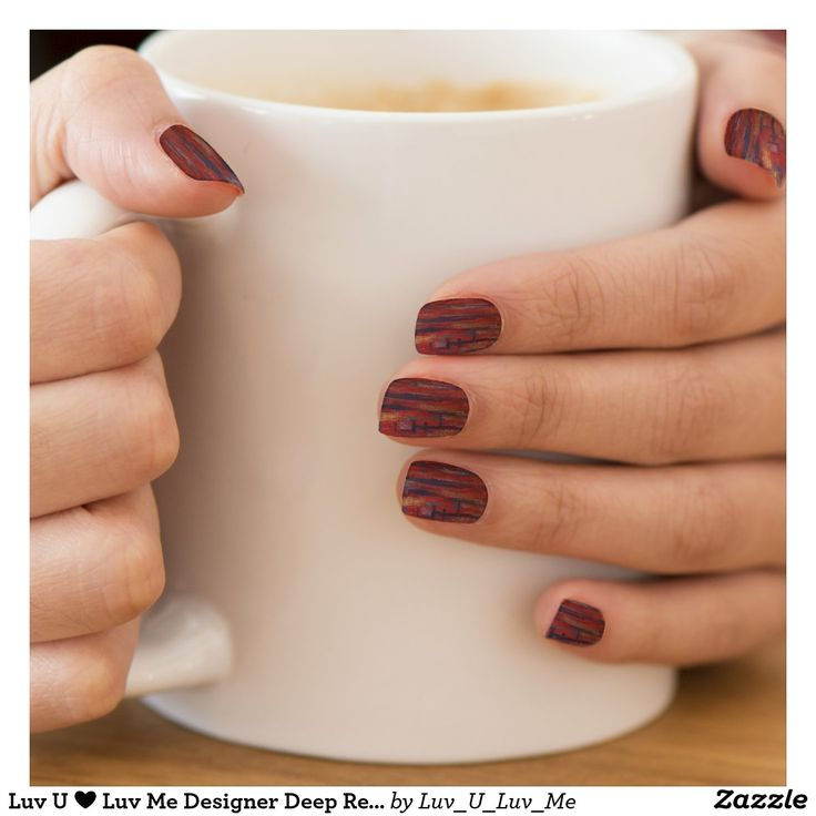 Luv U ❤️ Luv Me Designer Deep Red Minx Nail Art Minx® Nail Wraps