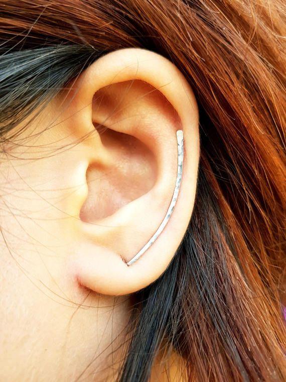 Ear Crawler 925 Sterling Silver Ear Wire Ear Cuff Earring Sweep Stud Earring Pin