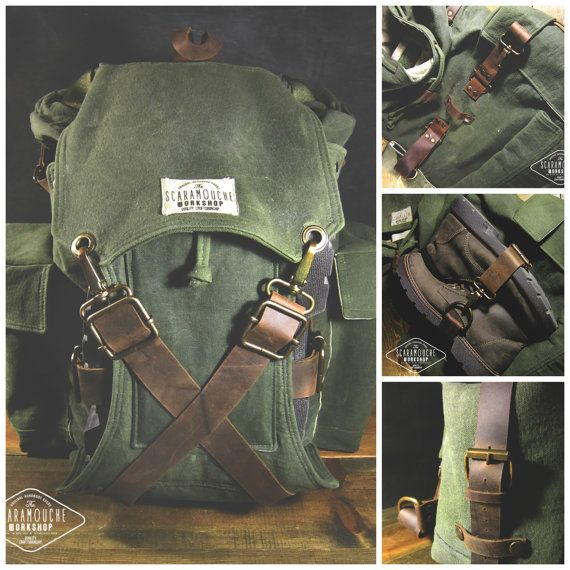 The Globetrotter Pack. Waxed Canvas by ScaramoucheWorkshop on Etsy