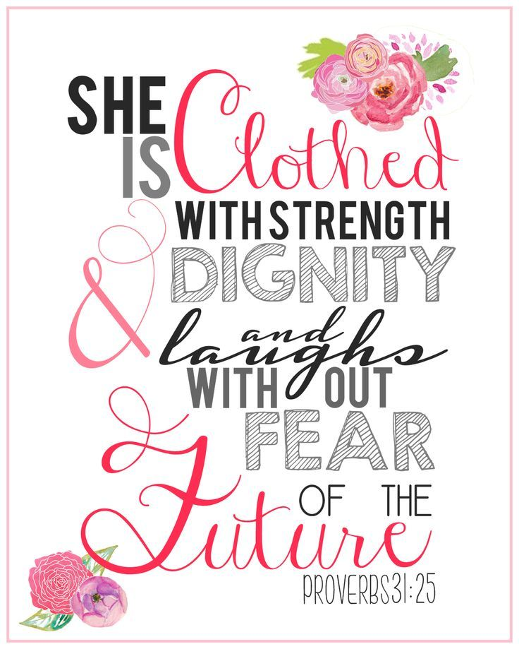 Proverbs 31 25 Quotes: 8x10 Scripture Print