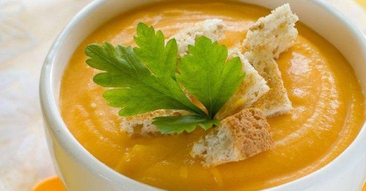 Sopa de Abóbora com Gengibre - Ingredientes: 300g de abóbora cabotiá