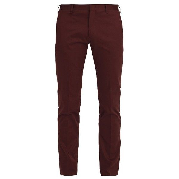 Paul Smith Slim-leg stretch-cotton chino trousers (12.255 RUB) ❤ liked on Polyvore featuring men's fashion, men's clothing, men's pants, men's casual pants, burgundy, mens chinos pants, mens lightweight cargo pants, mens burgundy pants, mens chino pants and mens slim fit pants