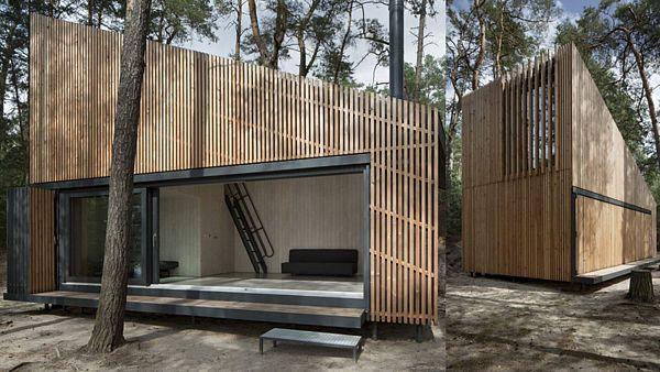 Chata u Máchova jezera od FAM Architekti je vzdušnou a jednoduchou stavbou.