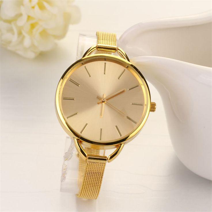 Luxury Women Thin Stainless Watch Women Small stainless Steel Band Analog Quartz WristWatch Reloj de acero inoxidable Oct20 #Affiliate