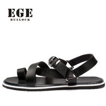 US $33.17 EGE BRAND Men Sandals New Fashion British High Quality Genuine Leather Male Beach Shoes Leisure No-Slip Sole Sandals for Men. Aliexpress product
