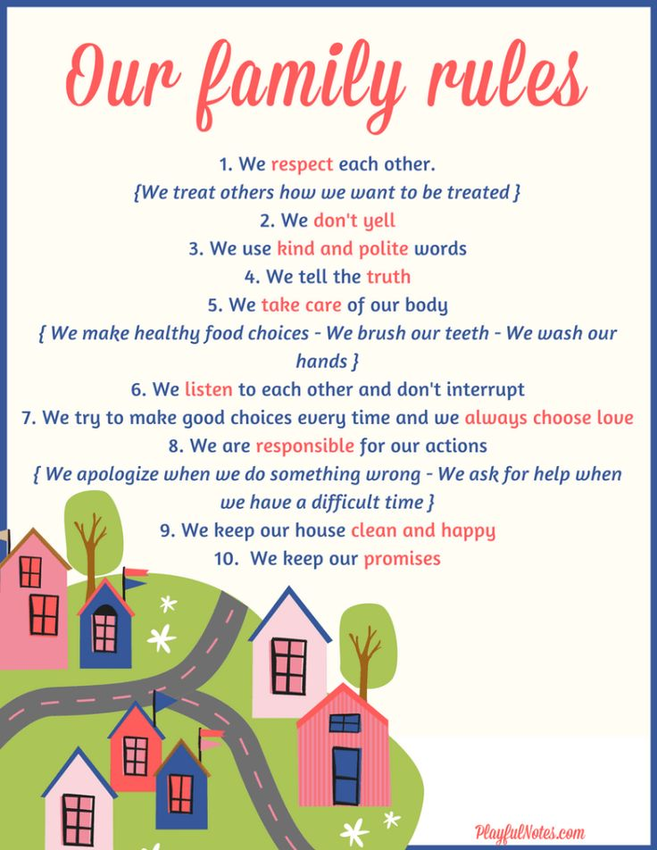 How to create family rules that kids will be happy to ...