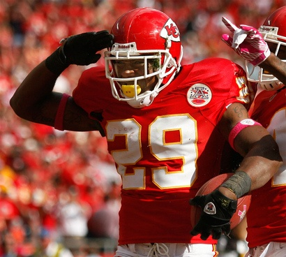 Eric Berry in the NFL after being drafted by the Kansas City Chiefs.
