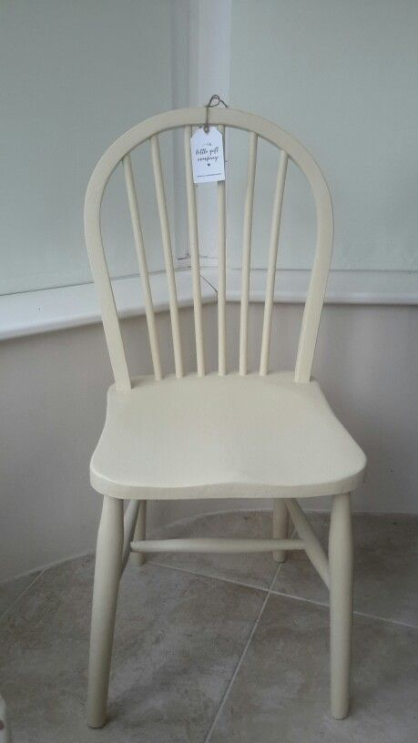 Pre - loved Chair, restored and Painted in Annie Sloan ' cream ' chalk paint. Sealed for durability. A beautiful statement Chair.