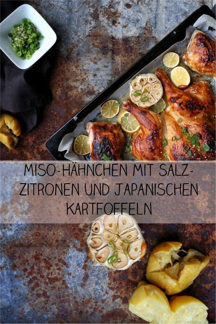 Miso-Hähnchen mit Salz-Zitronen und Sesam. Perfekte schnelle Küche ...