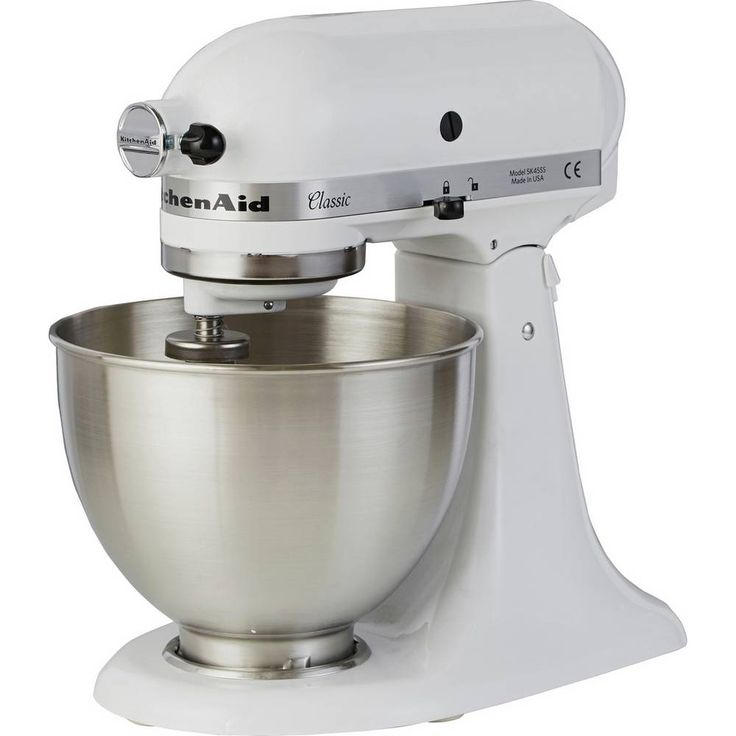 Buy kitchenaid 5k45ssbwh classic stand mixer white