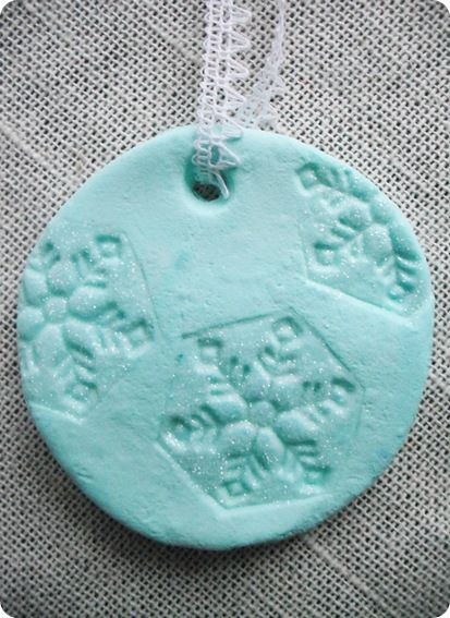Ornament recipe (NOT salt dough or cinnamon - what a relief)