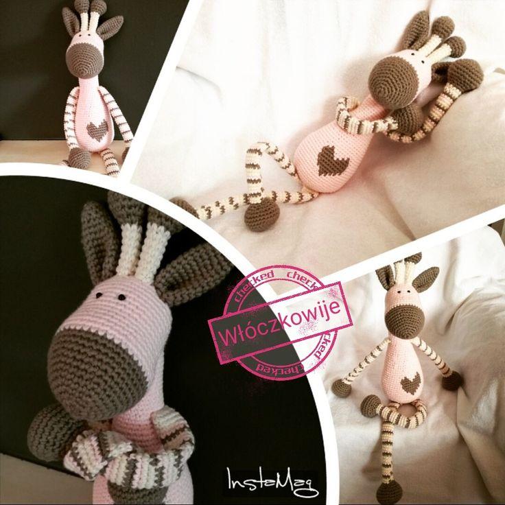 Amigurumi, crochet giraffe. 45cm, 100% cotton