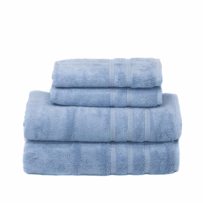 4 Piece Bath Bundle Set Allure Blue With Images Bamboo