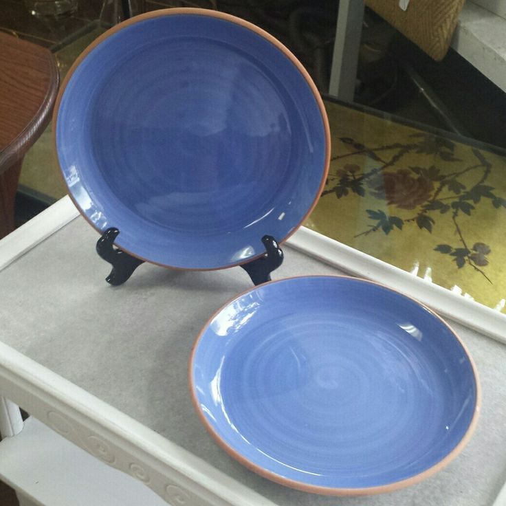 Mid Century Furio blue dinner plates for sale in our Etsy shop. Makes great home decor.