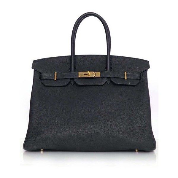 Pre-Owned Hermes Bleu Obscur Togo Leather 35cm Birkin Bag (505,215 PHP) ❤ liked on Polyvore featuring bags, blue, leather purses, blue purse, hermes purse, genuine leather handbags and leather flap handbags