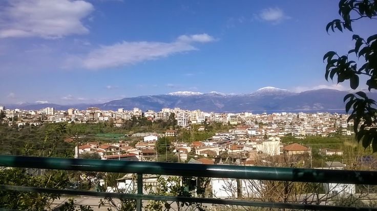 City view from one of the many hills in Aigio, Greece.