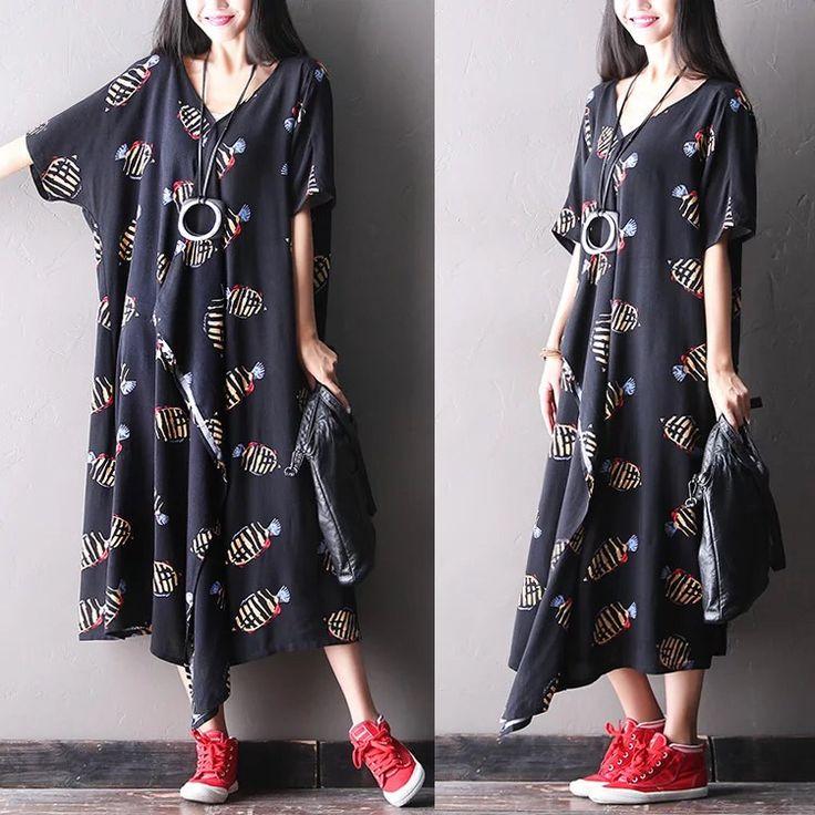 Blue dress Causel long dress