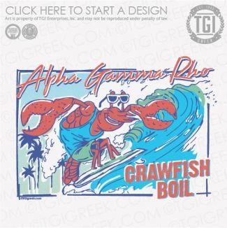 Alpha Gamma Rho | ΑΓΡ | Crawfish Boil | Philanthropy | TGI Greek | Greek Apparel | Custom Apparel | Fraternity Tee Shirts | Fraternity T-shirts | Custom T-Shirts