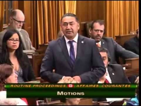 NDP MP Romeo Saganash's speech on missing and murdered Aboriginal peoples in Canada.  You'll have to turn the volume up to hear parts of this excellent address.