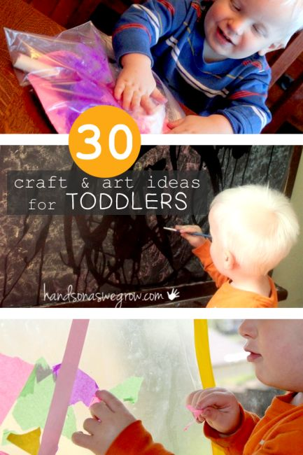 Get crafty with your toddler! These creative art projects from @handsonaswegrow are perfect for kids ages 1-3.