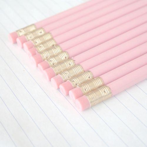 ღ❥Pink and White ❥ღ Pastel pink pencils.