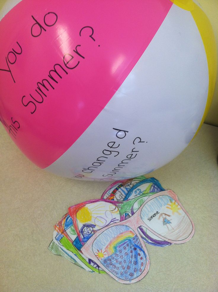 Question ball for first day of school activity and summer vacation sunglasses!