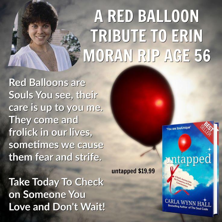 #untapptedbook http://www.untappedbookclub.com Today I celebrate the soul of celebrity Erin Moran#redballoonexperiment