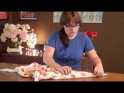 Learn how to make 3 different kinds of furoshiki purses in this video tutorial from love-and-adventure.com