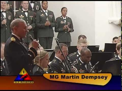 'Christmas in Killarney' sung by Major General Martin Dempsey with the 1st Armored Division Band