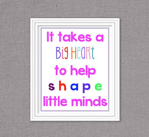 RMP Designs: It takes a big heart to shape little minds! Great teacher gift for beginning/end of year or during the holidays. Your childs teacher will feel so special and loved.