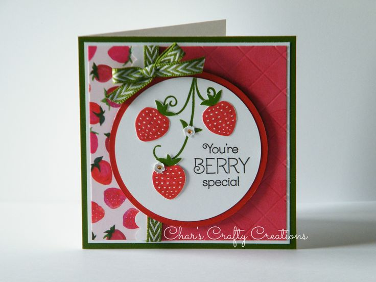 CTMH Taste of Summer strawberry card by Char's Crafty Creations
