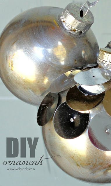 Instead of buying all new bulbs and ornaments to redo my tree- I can use this tutorial to spray paint everything instead. Sounds good to me!