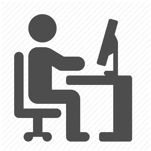 chair, computer, desk, home, man, monitor, office, pc, sit, sitting