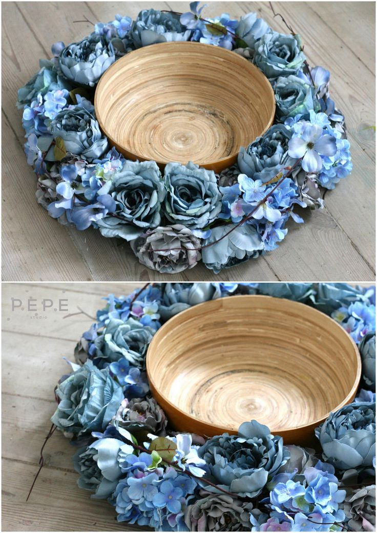 Newborn floral nest, blue nest, newborn photo props, photo props,  blue flowers,  hand made