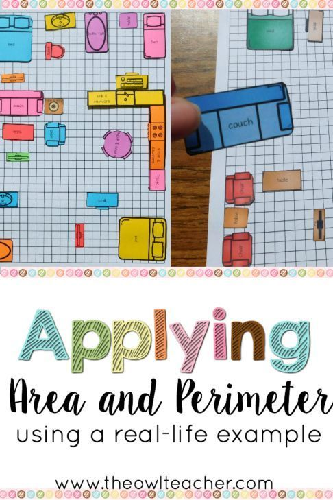 Teaching area is engaging and authentic with this hands-on applied math activity! Students arrange furniture to find the area and perimeter of their house.