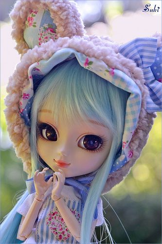 A blue teddy bear? | Ruri wear a lovely outfit made by Rinon… | Flickr