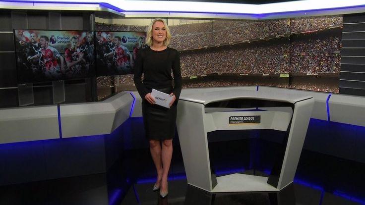 Ruth Hofmann German Presenter Leather skirt 20 2016