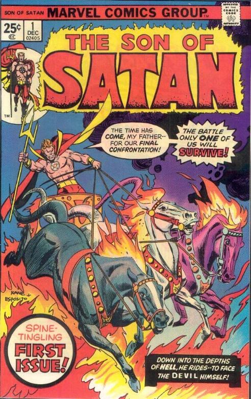 COMIC son of satan 1 #comic #cover #art: Artists Gil Kane, Art Marvel, Favorite Comic, Horror Comic, 1975 Artists Gil, Comic Books, Marvel Comic, Comic Art, Comic 1975
