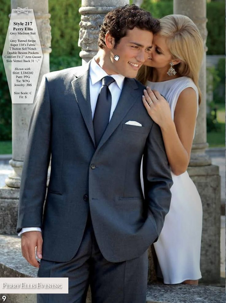 Grey Madison Suit By Perry Ellis At Friar Tux