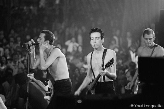 The Clash - May 30, Théâtre de Verdure Nice, 1980. Taken by Youri Lenquette.
