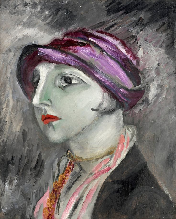 Sigrid Hjertén 1885-1948 The violet hat.