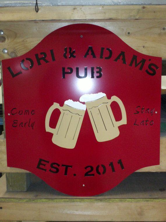 Pub Sign by PDJMetalArt on Etsy, $150.00