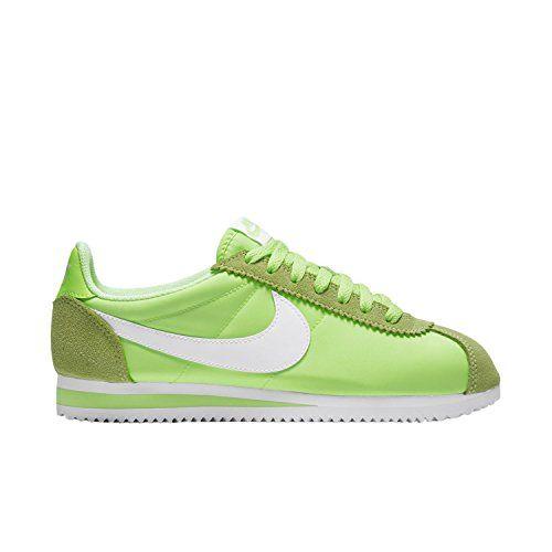Nike Wmns Classic Cortez Nylon, Zapatillas de Deporte para Mujer, Verde (Ghost Green/White), 39 EU