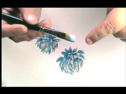 Tutorial La Dalia in Decorative Painting- Dahlia en pintura deorativa