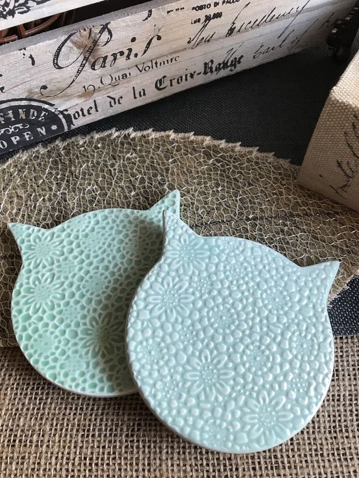 New Mint Cat Floral Ceramic Coaster Set of 2 - Great Cat Lady or Cat Man Gift! | Home & Garden, Kitchen, Dining & Bar, Bar Tools & Accessories | eBay!